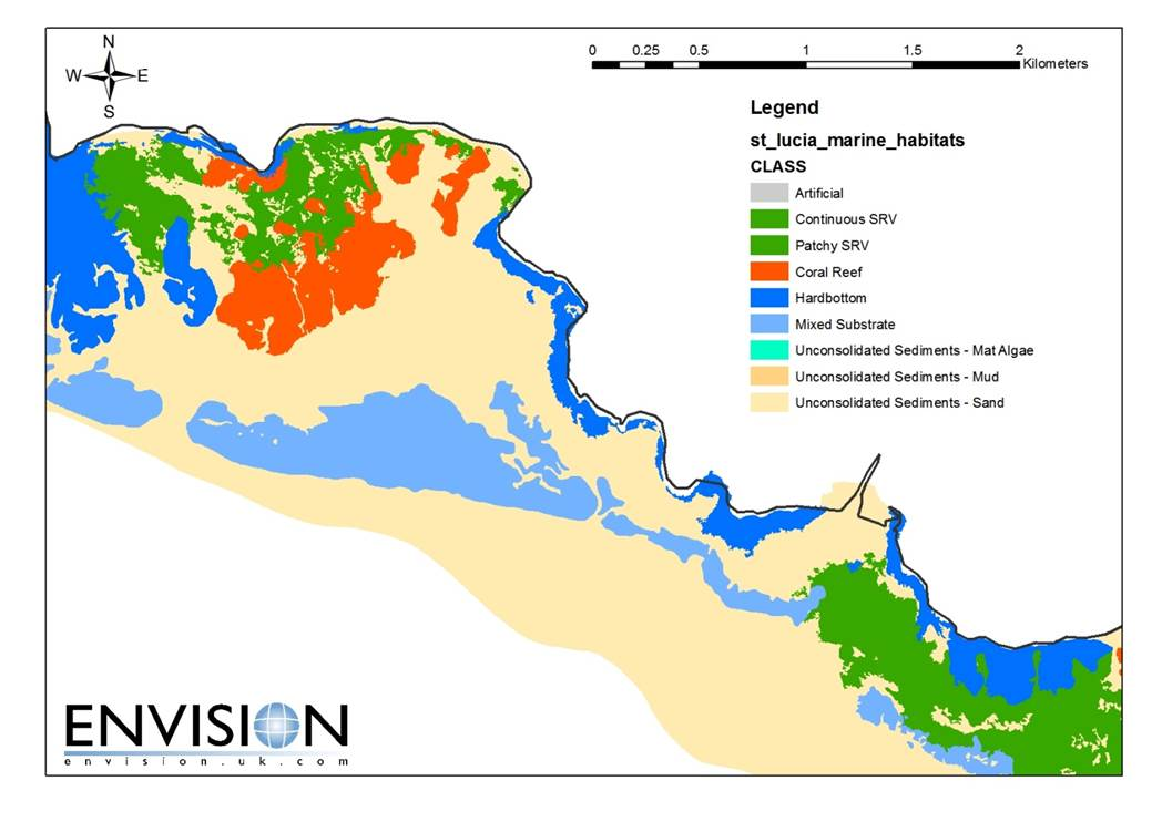 Coastal Habitat Mapping Project U2013 St  Lucia